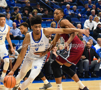 Kentucky's Nick Richards drives the baseline on Monday evening against Troy.  MARTY CONLEY/ FOR THE DAILY INDEPENDENT