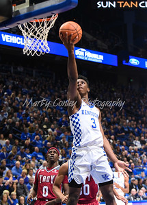 Hamidou Diallo of Kentucky lays a shot on the glass on Monday against Troy.  MARTY CONLEY/ FOR THE DAILY INDEPENDENT