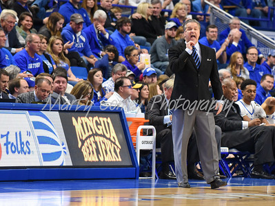 Kentucky head coach, John Calipari shouts instructions on Sunday to his team against UIC.  MARTY CONLEY/ FOR THE DAILY INDEPENDENT