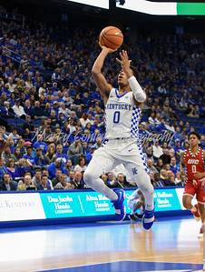 Quade Green of Kentucky floats through the lane for a basket on Sunday against UIC.  MARTY CONLEY/ FOR THE DAILY INDEPENDENT