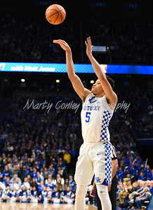 Kentucky's Kevin Knox shoots a jump shot on Friday against Utah Valley.  MARTY CONLEY/ FOR THE DAILY INDEPENDENT