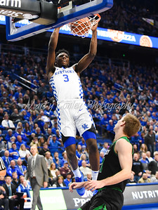 Kentucky's Hamidou Diallo dunks on Friday evening against Utah Valley.  MARTY CONLEY/ FOR THE DAILY INDEPENDENT