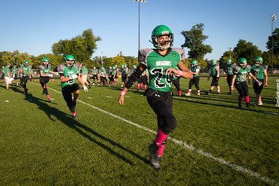 Dragon Football Tackle Cancer vs Holy Family Fire