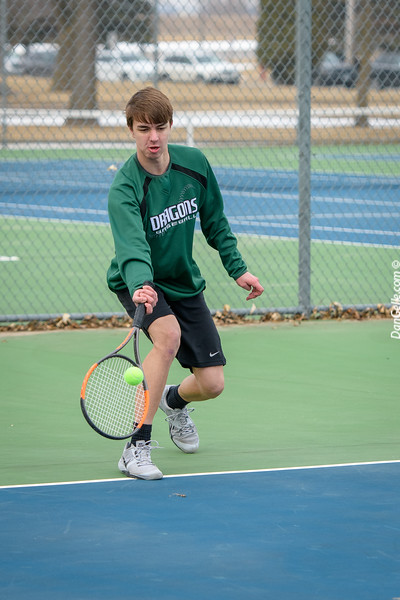 Dragon Boys Tennis vs  St. Cloud Tech