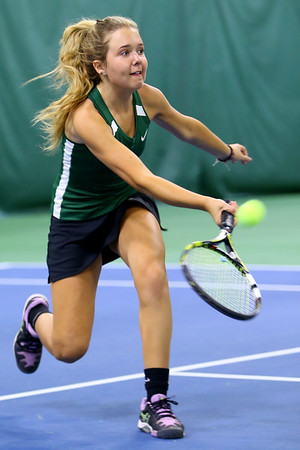 Tennis between Eastern HS and Western HS on April 10, 2017. Eastern's Casey Clark playing in the #2 singles match.<br /> Tim Bath   Kokomo Tribune