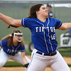 4-14-17<br /> Western vs Tipton softball<br /> Tipton's Marlee Wiggington pitches.<br /> Kelly Lafferty Gerber | Kokomo Tribune