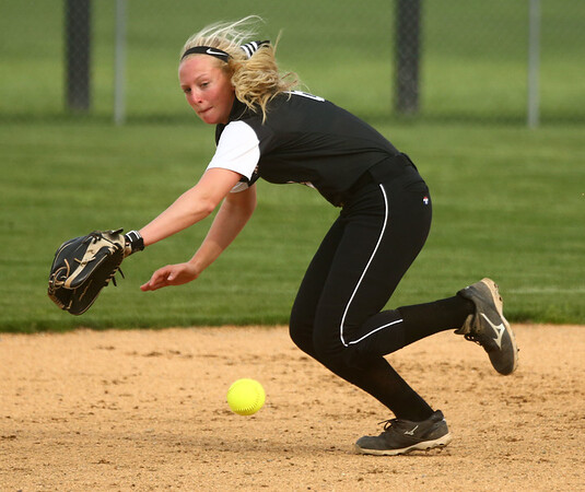 4-14-17<br /> Western vs Tipton softball<br /> Western's Tori Turner just misses the ball.<br /> Kelly Lafferty Gerber | Kokomo Tribune