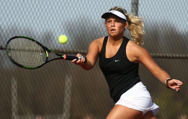 4-12-17<br /> Northwestern girls tennis<br /> 3 singles Morgan Mercer<br /> Kelly Lafferty Gerber   Kokomo Tribune