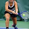 Tennis between Eastern HS and Western HS on April 10, 2017. Western's Tara Hellreigel playing in the #2 singles match.<br /> Tim Bath | Kokomo Tribune