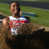 4-7-17<br /> Kokomo boys track and field<br /> Shemar Robinson in the long jump.<br /> Kelly Lafferty Gerber | Kokomo Tribune