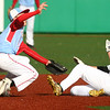 4-27-17<br /> Eastern vs Maconaquah baseball<br /> Eastern defeated Maconaquah in 5 innings, 13-3. Eastern's Logan Beall slides safely to second as the ball flies past Maconaquah's Cody Koebler.<br /> Kelly Lafferty Gerber | Kokomo Tribune
