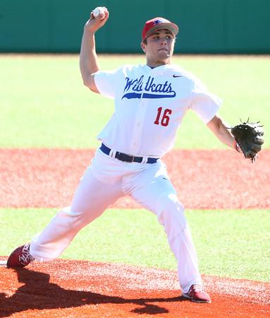 4-8-17<br /> Kokomo baseball vs SB Riley<br /> Kyle Wade pitches.<br /> Kelly Lafferty Gerber   Kokomo Tribune