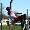 4-7-17<br /> Kokomo boys track and field<br /> Julian Wallace clears the bar in the high jump.<br /> Kelly Lafferty Gerber | Kokomo Tribune