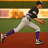 4-19-17<br /> Western vs Northwestern baseball<br /> NW's Collin Hodson scoops up the ball and throws to first for an out.<br /> Kelly Lafferty Gerber | Kokomo Tribune