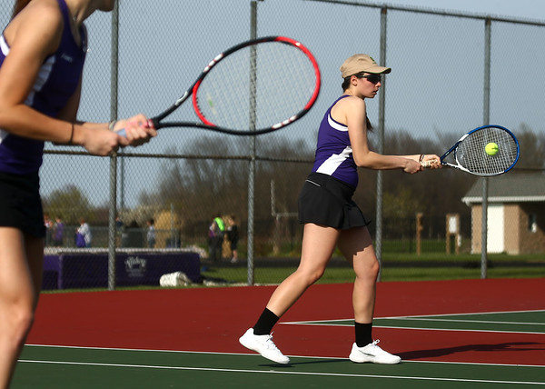 4-12-17<br /> Northwestern girls tennis<br /> 1 doubles Lauren Miller<br /> Kelly Lafferty Gerber | Kokomo Tribune
