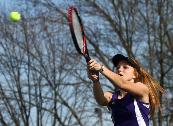 4-12-17<br /> Northwestern girls tennis<br /> 1 doubles Klair Merrell<br /> Kelly Lafferty Gerber | Kokomo Tribune