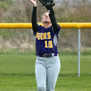 2-14-17<br /> Northwestern vs Oak Hill softball<br /> Kayla Fogle makes the catch in the outfield for an out.<br /> Kelly Lafferty Gerber | Kokomo Tribune