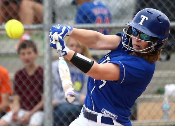 4-14-17<br /> Western vs Tipton softball<br /> Tipton's Mackenzie Stillson bats.<br /> Kelly Lafferty Gerber   Kokomo Tribune