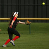 4-11-17<br /> Kokomo vs Taylor softball<br /> Taylor's Tori Gilstrap makes the catch for an out.<br /> Kelly Lafferty Gerber | Kokomo Tribune