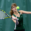 Tennis between Eastern HS and Western HS on April 10, 2017. Eastern's Allison Salkie playing in the #1 doubles match.<br /> Tim Bath | Kokomo Tribune