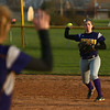 2-14-17<br /> Northwestern vs Oak Hill softball<br /> Sophia Beachy throws to first base for an out.<br /> Kelly Lafferty Gerber | Kokomo Tribune