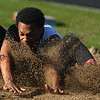 4-7-17<br /> Kokomo boys track and field<br /> Chris Thomas in the long jump.<br /> Kelly Lafferty Gerber | Kokomo Tribune