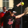 4-11-17<br /> Kokomo vs Taylor softball<br /> Taylor's Shaelah Eliason pitches.<br /> Kelly Lafferty Gerber | Kokomo Tribune