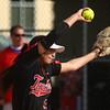 4-11-17<br /> Kokomo vs Taylor softball<br /> Taylor's Shaelah Eliason pitches.<br /> Kelly Lafferty Gerber | Kokomo Tribune