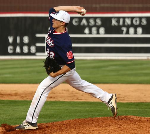 4-26-17<br /> Cass vs Western baseball<br /> Alec Eurit pitches for Cass.<br /> Kelly Lafferty Gerber   Kokomo Tribune