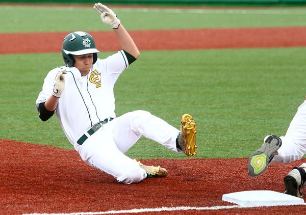 4-27-17<br /> Eastern vs Maconaquah baseball<br /> Eastern defeated Maconaquah in 5 innings, 13-3. Logan Beall slides safely to third.<br /> Kelly Lafferty Gerber   Kokomo Tribune