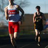 4-7-17<br /> Kokomo boys track and field<br /> Justin Taflinger in the 1600 m run.<br /> Kelly Lafferty Gerber | Kokomo Tribune