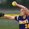 2-14-17<br /> Northwestern vs Oak Hill softball<br /> #24 pitches for Northwestern.<br /> Kelly Lafferty Gerber | Kokomo Tribune