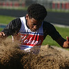 4-7-17<br /> Kokomo boys track and field<br /> Andra Nash in the long jump.<br /> Kelly Lafferty Gerber | Kokomo Tribune