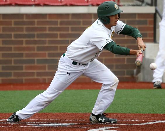 4-27-17<br /> Eastern vs Maconaquah baseball<br /> Eastern defeated Maconaquah in 5 innings, 13-3. Mason Edwards bunts.<br /> Kelly Lafferty Gerber | Kokomo Tribune