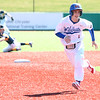 4-8-17<br /> Kokomo baseball vs SB Riley<br /> Kokomo' Justin Hurlock runs to third.<br /> Kelly Lafferty Gerber | Kokomo Tribune