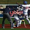 4-8-17<br /> Kokomo baseball vs SB Riley<br /> Jack Perkins is called safe at second.<br /> Kelly Lafferty Gerber | Kokomo Tribune