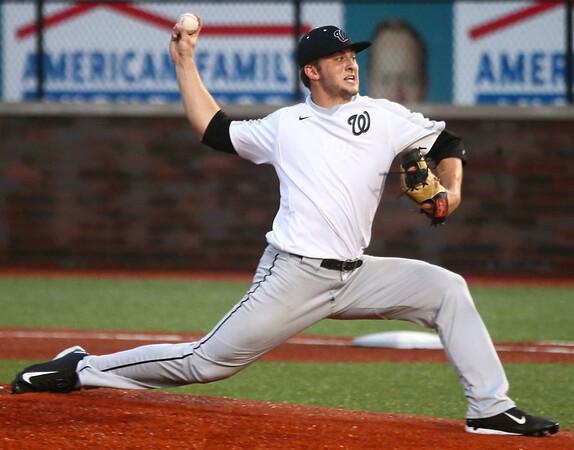 4-19-17<br /> Western vs Northwestern baseball<br /> Western pitcher Tyler Knepley<br /> Kelly Lafferty Gerber | Kokomo Tribune