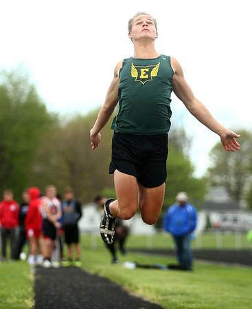 4-22-17<br /> Eastern track and field<br /> Eastern's Aren Turner in the long jump.<br /> Kelly Lafferty Gerber | Kokomo Tribune