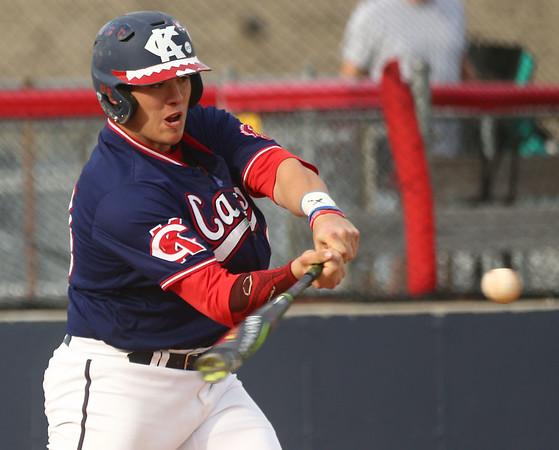 4-26-17<br /> Cass vs Western baseball<br /> Jaret Humphrey bats for Cass.<br /> Kelly Lafferty Gerber | Kokomo Tribune
