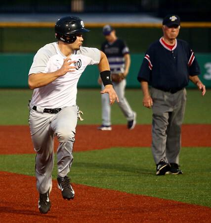 4-19-17<br /> Western vs Northwestern baseball<br /> Western's Tyler Burthay runs to third base.<br /> Kelly Lafferty Gerber | Kokomo Tribune