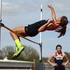4-25-17<br /> Taylor track<br /> Alison Pemberton in the high jump<br /> Kelly Lafferty Gerber | Kokomo Tribune