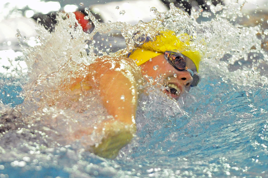 Olivia Thoney competes in the 200-yard freestyle during the state swim meet on Saturday, Nov. 4 at the Campbell County Aquatic Center. Mike Pruden   The Sheridan Press