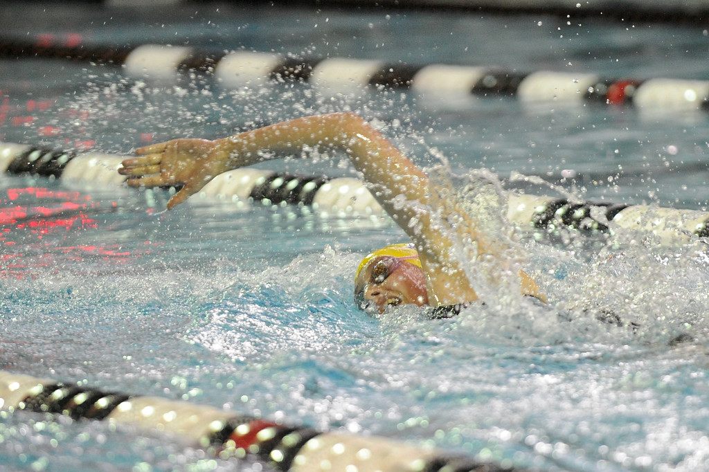 Zoe Robison competes in the 200-yard IM during the state swim meet on Saturday, Nov. 4 at the Campbell County Aquatic Center. Mike Pruden   The Sheridan Press