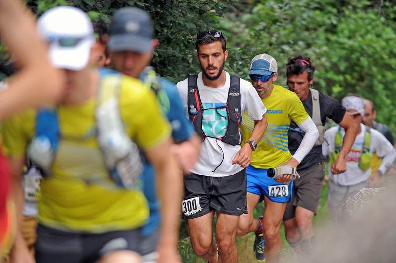 Competitors in the Bighorn Mountain Wild and Scenic Trail Run 100-mile race begin their ascent up the mountain on Friday, June 16 in Tongue River Canyon. Mike Pruden   The Sheridan Press