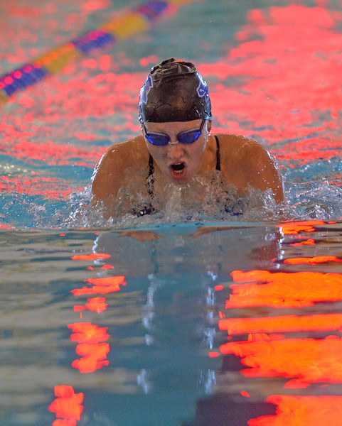 Justin Sheely | The Sheridan Press<br /> Sheridan High School's Molly Green competes in the 200m SC IM during the swim meet Tuesday at the Sheridan Junior High School Pool.