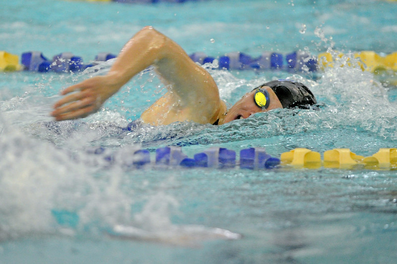Molly Green races in the 200-meter freestyle during the Sheridan Invite on Saturday, Sept. 23 at Sheridan Junior High School. Mike Pruden | The Sheridan Press