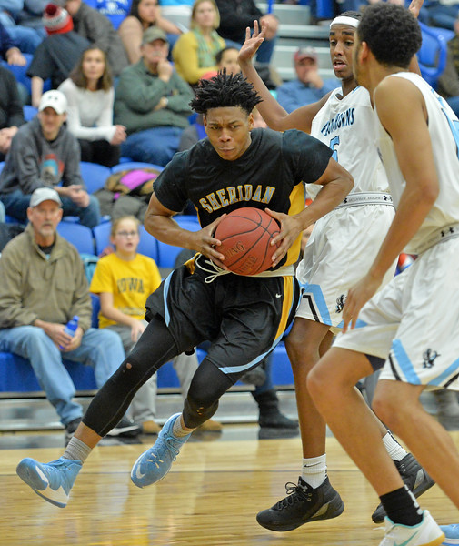 Darius Jackson attacks the basket on Wednesday, Jan. 11 at the Pronghorn Center in Gillette. Mike Pruden   The Sheridan Press
