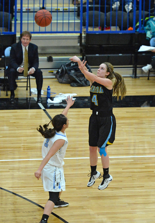 Brooke Cargal shoots a deep 3-pointer on Wednesday, Jan. 11 at the Pronghorn Center in Gillette. Mike Pruden | The Sheridan Press