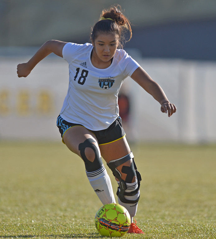 Eyker Millan dribbles the ball upfield during Sheridan College's Region IX Tournament match against Trinidad State Junior College on Friday, Oct. 20 at Maier Field. Mike Pruden | The Sheridan Press