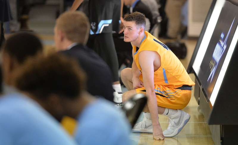 Justin Sheely | The Sheridan Press<br /> Sheridan College's Ladan Ricketts waits to check in at the end of the second half during the rivalry game against the Pronghorns Wednesday night at the Bruce Hoffman Golden Dome. The Generals fell to Gillette 87-81.